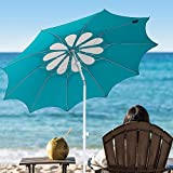 AMMSUN 7ft Beach Umbrella with Tilt Mechanism, Portable UV 50+...