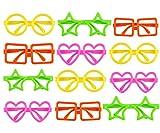 Gafas para niñas y niños - 12 Unidades - Gafas para fiestas - Gafas para disfraces - Formas y colores variados