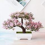 U/D Künstliche Pflanzen Künstliche Pflanzen Pine Bonsai Kleiner Baum Topfpflanzen Fake Flowers Topf Ornaments for Home Hotel Gartendeko (Color : Rosa, Size : Kostenlos)