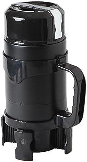 Caldera eléctrica de alta capacidad simple 1200 ml 12v / 24v caldera eléctrica portátil elegante del coche taza de acero inoxidable del oro negro calentador de agua universal ( Color : Black )