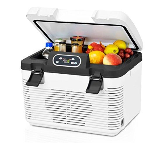 AMYMGLL Réfrigérateur de Voiture 19L (Double Réfrigération), Maison et Voiture à Double Usage (220V/12V), Stockage et Conservation