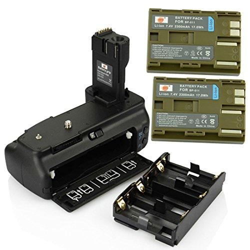 DSTE® プロ 互换 BG-E2N 垂直 バッテリーグリップ + 2x BP-511 のために Canon キャノン EOS 20D 30D 40D 50D カメラ [並行輸入品]