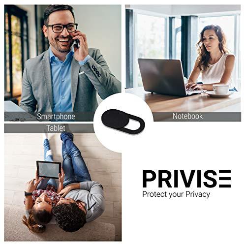 Privise – Cubierta para Webcam, Special Edition, Nuestra cubierta de cámara web más delgada paraCámara de Celular, Smartphone, Teléfono Inteligente, Laptop, Computadora de Escritorio, 8 Piezas – Negra miniatura