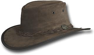 Barmah Hats Foldaway Suede Leather Hat - Item 1066