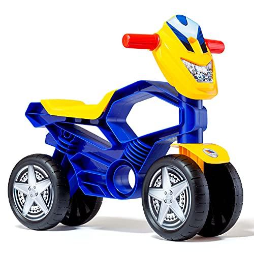 MOLTO | Moto Correpasillos My First Azul | Moto Infantil de 4 Ruedas Todo Terreno | Juguetes Infantiles Seguros y Resistentes | Fomenta el Desarrollo de Niños y Niñas | De 12 a 36 Meses