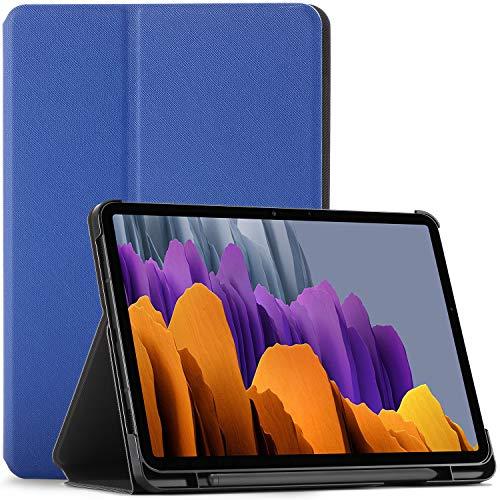 Forefront Cases Cover per Samsung Galaxy Tab S7 - Galaxy Tab S7 Custodia con S Pen Supporto - Blu Reale - Sottile e Leggero, Auto Svegliati Sonno Samsung Galaxy Tab S7 11 pollici 2020 Cover, Custodia