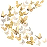 Sticker Mural Papillon 3D Sticker Mural Volant Décor Décorations d'Art dans 6...