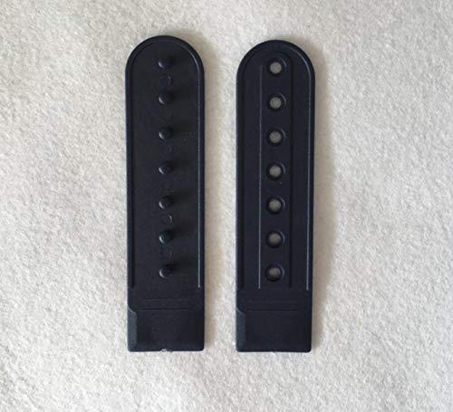 WellieSTR 10 Par De Hebilla De Sombrero Hebilla De Plástico Ajustable Hebillas Toggle Clip - Negro