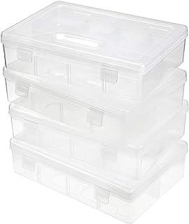 علبة أقلام بلاستيكية شفافة من بي تي سكي، حقيبة تنظيم لوازم المكتب ذات الطابقين القابلة للتعديل، علبة تخزين أقلام الرسم بأل...