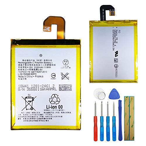 Batería de polímero de litio LIS1558ERPC compatible con Sony Ericsson Xperia Z3 D6616 D6633 D6653 L55T Xperia Z3 WiMAX 2+ L55T