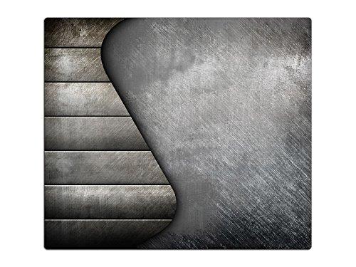 Herdabdeckplatte Schneidebrett Spritzschutz aus Glas HA657946738 Holz & Metall Grau Variante 1x Scheibe (1 Panel) für Küche, Grill-Profis und Dinner