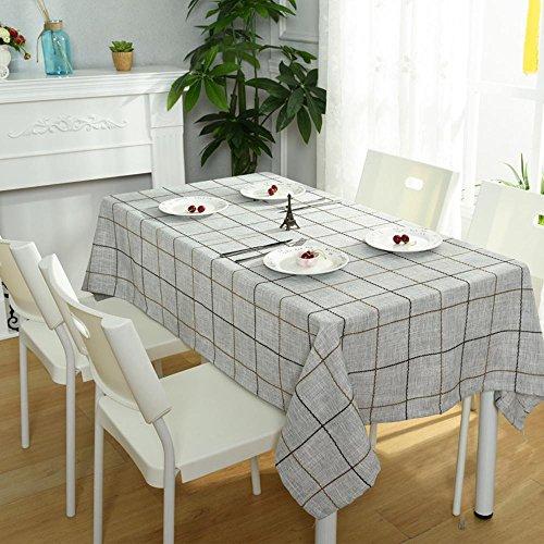 BiuTeFang tafelkleed Modern minimalistisch katoenen tafelkleed home grid TV kast stofdoek