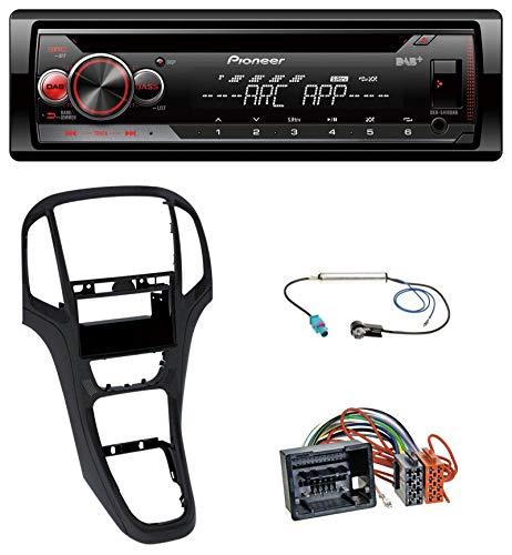 caraudio24 Pioneer DEH-4900DAB DAB USB CD MP3 AUX Autoradio für Opel Astra J ab 2009 Perl schwarz