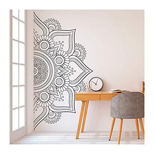 Adhesivo decorativo para pared, diseño de mandala, PVC, autoadhesivo, para sala de estar, dormitorio, yoga, arte de pared