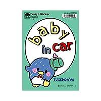 ゼネラルステッカー サンリオ タキシードサム BABY in car ステッカー LCS-067