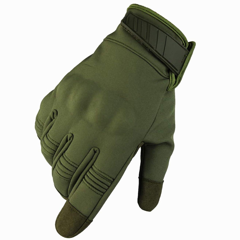 旅行者広まった戸口LilyAngel の防水戦術的な手袋 屋外のロッククライミングライディンググローブ アンチスキッド保護着用グローブ フィットネスファイティンググローブ (Color : Army green, Size : S)