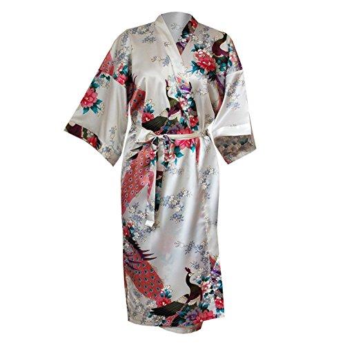 Kimono aus Satin (creme)