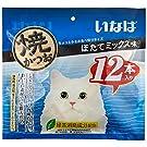 いなば 猫用おやつ 焼かつお ほたてミックス味 12本入