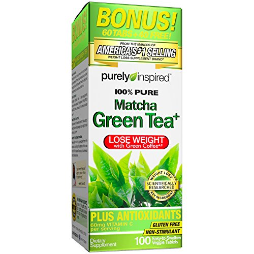 Purely Inspired Matcha Green Tea, Green Tea Extract, 100% Green Tea, 100 Count