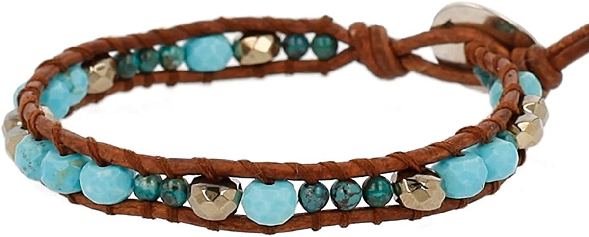 Excellence Max 69% OFF Chan Luu Turquoise Semi Precious Stones Accent Plated and Silver