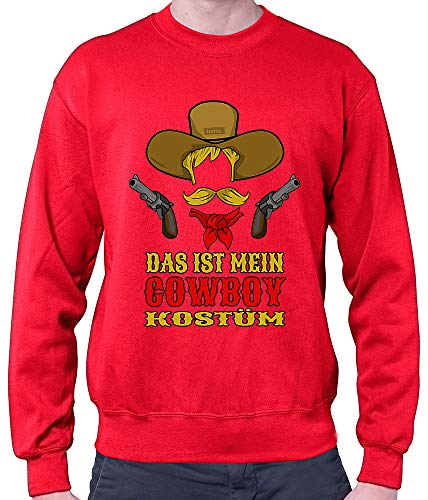 HARIZ Herren Pullover Das Ist Mein Cowboy Kostüm Karneval Kostüm Plus Geschenkkarten Rot 3XL