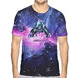 bianlidian T-Shirts à Manches Courtes Homme, T-Shirt, Short SleeveArk: Su-rvival Evo-lved 3D Printing Star Fashion Men's Summer T-Shirt