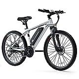 Cybertrack 100 26' Electric Bike, 3 Hours Fast Charge, BAFANG 350W Brushless Motor, 36V/10.4Ah...
