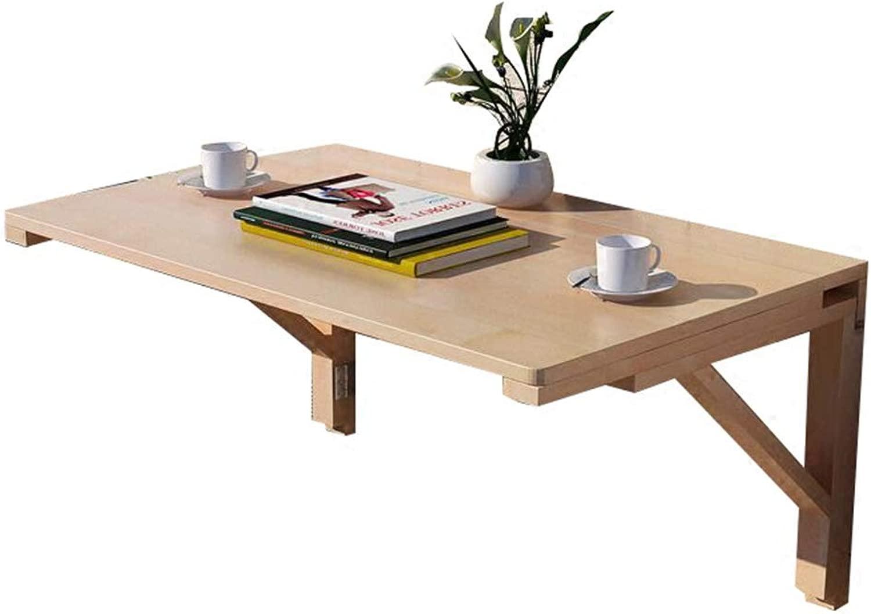 LXLA- Pieghevole Tavolo Pieghevole in Legno massello, scrivania per Bambini, Tavolo da Cucina, InsDimensionezione Facile - 10 cm di profondità (Dimensioni   100×60cm)