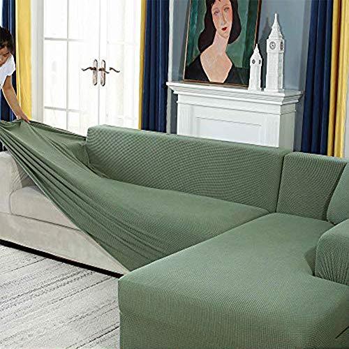 Zhongdalian Sofabezug, Eck Stretch-Sofabezug Stretch Sofabezug für 1/2/3/4 Sitzer(L-förmiges Ecksofa erfordert...