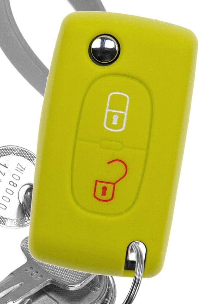 Soft Case Auto Schlüssel Silikon Schutz Hülle Apfelgrün Elektronik