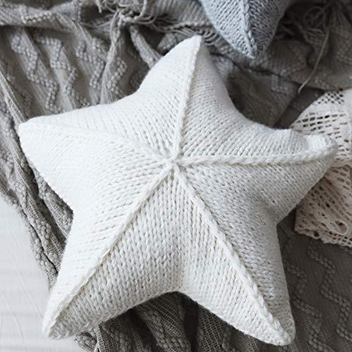 RUYII Almohada Cojín Relleno Estrella De La Habitación del Bebé Estilo Nórdico Niños Hecho A Mano Cojín para Sofá Oficina De Coche,White