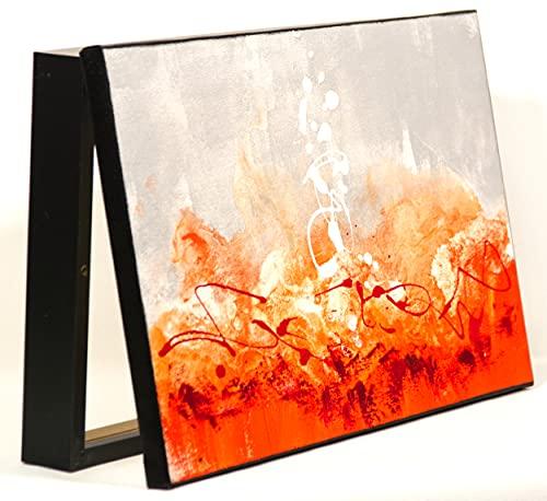 Cuadroexpres - Tapa de Contador Pintada a Mano 22x37x4 cm (Interior) Caja Decorativa para el Cuadro de Luces. En Melamina Negro. Cierre de imán y Tornillos para Fijar en la Pared incluídos.