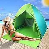 FBSPORT Beach Tent, Pop Up Beach Shade, UPF 50+ Sun Shelter Instant Portable Tent Umbrella Baby Canopy Cabana with Carry Bag