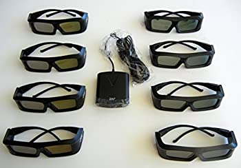 JVC Pk-ag1-b Glasses  Eight  and JVC Emitter PK-em1 for 2X Brightness with All JVC projectors and Silver Screen