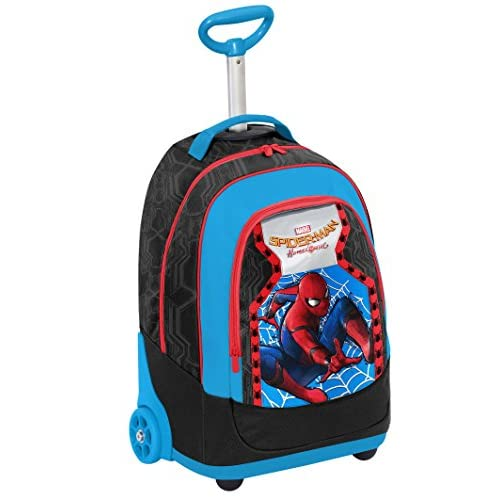 Seven Marvel Spiderman Homecoming 2-in-1 Zaino con spallacci a scomparsa, 31 l, Multicolore