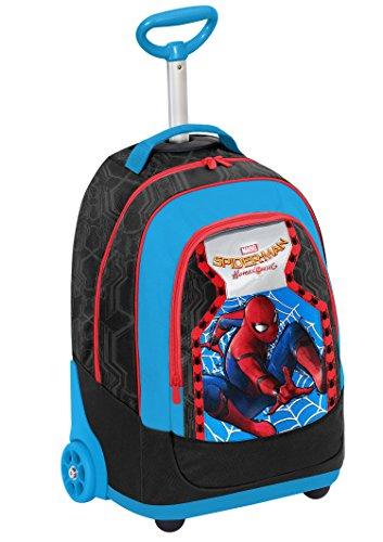 Seven Marvel Spiderman Homecoming 2-in-1 Zaino con spallacci a scomparsa, 31 l, Multicolore