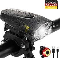 Antimi Fahrradlicht Led Set 2 Licht-Modi, Fahrradlichter Fahrradlampe StVZO Zugelassen Fahrradbeleuchtung LED...
