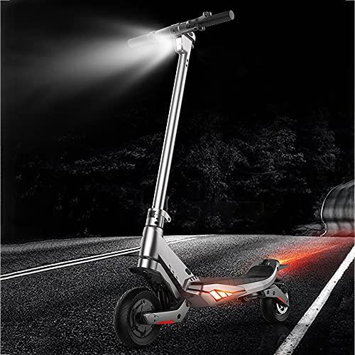 DODOBD Patinete Eléctrico Adulto 300W Plegable Patín Eléctrico para Niños y Jóvenes,autonomía de 45 Km,Scooter Portátil Plegable para Adultos con Doble Sistema de Frenado y Luces Traseras