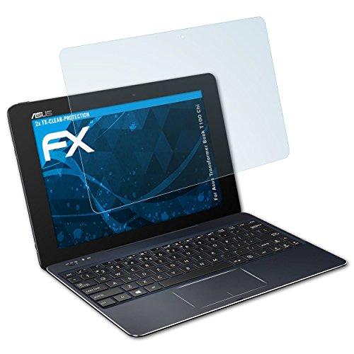 atFolix Schutzfolie kompatibel mit Asus Transformer Book T100 Chi Folie, ultraklare FX Bildschirmschutzfolie (2X)