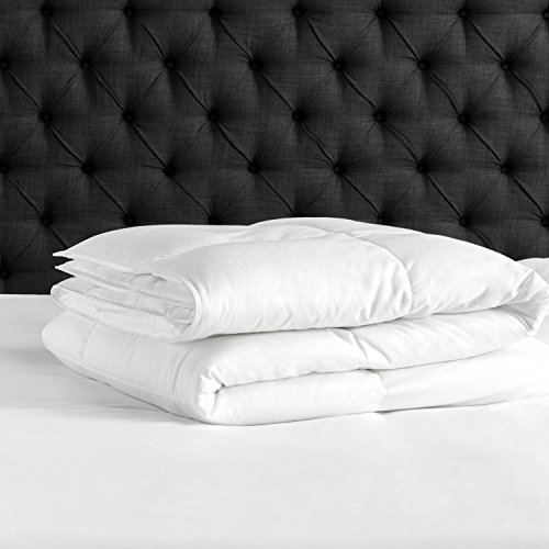 Beckham Hotel Collection Luxury Soft Brushed 1800 Series Microfiber Duvet Cover Set with Zipper Closure - Hypoallergenic - Full-Queen, Pure White