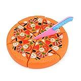 Haplws Cocina simulación Pizza Accesorios Juguetes Juego Colorido rebanadas de Comida Tabla de Cortar Juego de Roles rebanadas de Pizza Juguetes para niños