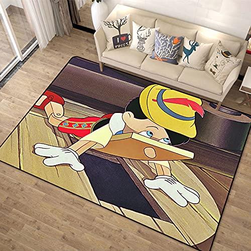 xuejing Alfombra Pinocho Rectangular Anime Dibujos Animados Sala De Estar Pasillo Dormitorio Balcón Ventana De Bahía Guardarropa Mesa De Centro Cocina Alfombra Antideslizante
