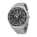 Omega Aqua Terra cronógrafo GMT Gris Dial Acero Inoxidable Acero Mens Reloj...