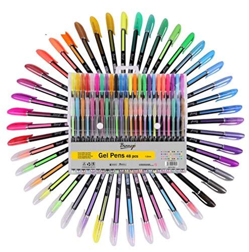 Julysst 36Pcs Set Di Penne In Gel Ricariche Metallic Pastel Neon Glitter Sketch Drawing Color Pen School Marker Di Cancelleria Per Regali Per Bambini