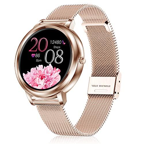 LIYIFANKJ Smartwatch Damen Fitnessuhr IP67 Wasserdichter Sportuhr Herzfrequenz Blutdruckmessgerät Smart Watch Kompatibel mit iOS Android