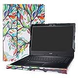 Alapmk Diseñado Especialmente La Funda Protectora de Cuero de PU para 14' Acer TRAVELMATE P2 TMP249 Series Ordenador portátil (No Compatible con: TRAVELMATE X3/P4/P6 Series),Love Tree