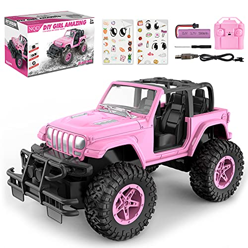 Remote Control Car RC Racing Cars 1:16 Scale 80 Min Play 2.4Ghz Off Road RC Trucks with Storage Case All Terrain Cars Toys Gifts for Boys Kids Girls Teens