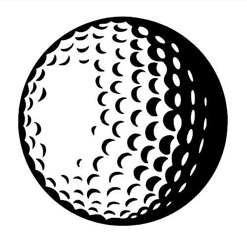 zwyluck 3D golfballen, vinyl, muurstickers, muurstickers, muurstickers, sportmotief, wandserie, 57 x 57 cm