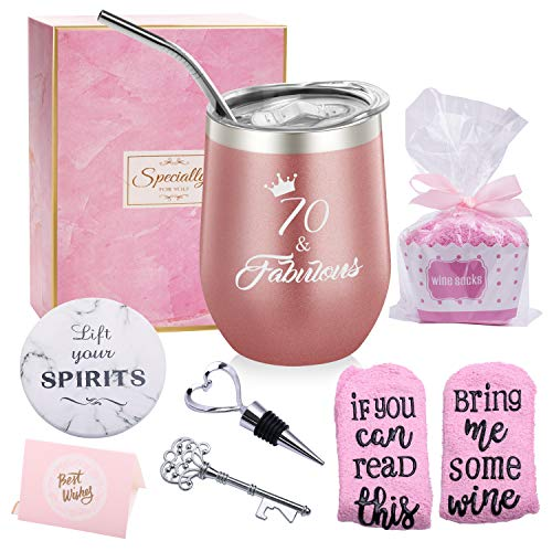 70 & Fabulous Wine Tumbler Gift Set