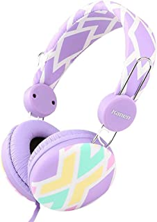 XGCCDAU Sound Intone IP-810 Stereo Lightweight Portable Wired Kids Girls Headphones with Microphone, Stretching Headband, Music Computer Headsets for All 3.5mm Jack Devices Earphones